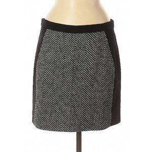 J Crew Chevron Tweed Skirt